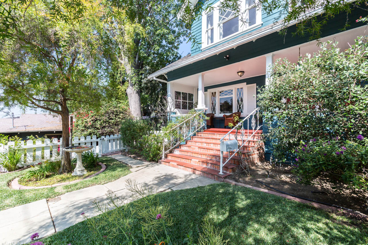 Playful Craftsman | Rich in Color, Character and Details | Enclosed Front Yard w/DTLA Views